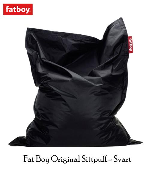Svart Fatboy Original Sittsäck