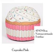 Sittpuff till barn som ser ut som cupcake