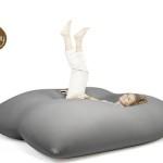 Stor sittsäck med stretchtyg