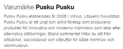 Om företaget Pusku Pusku