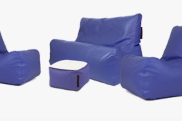 Blå outdoor loungegrupp