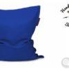 Mjuk blå saccosäck från puskupusku