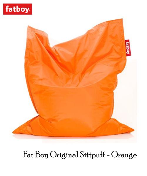 Orange sittsäck från Fatboy