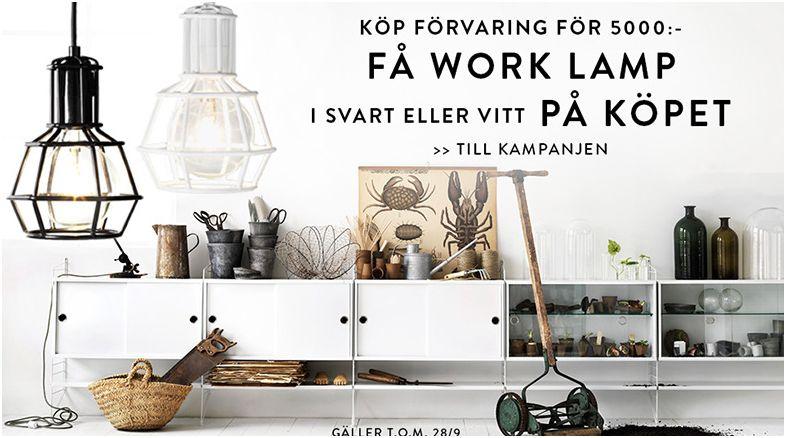 Förvaring till saccosäcken ger gratis Work Lamp