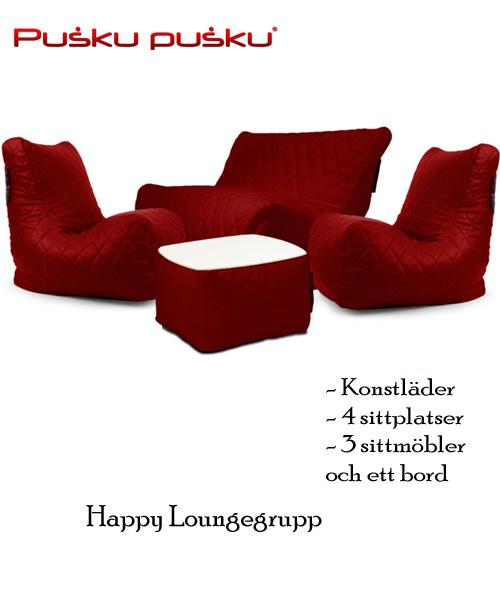 Loungegrupp med saccosäckar