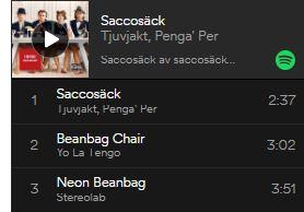 """Musik med tema """"Saccosäck"""""""