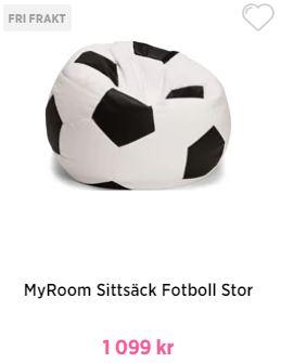 my room fotboll saccosäck